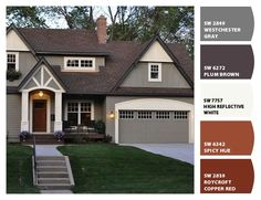 Paint Colors From ColorSnap By Sherwin Williams. Exterior House ...