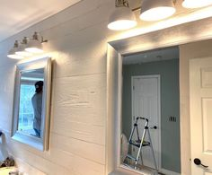 Weekend Walls Peel and Stick Paneling in Cape Code White - approximately 70 square feet. Starting at $11.05 per square foot, transform your space in only a few days! Peel and stick wood walls are a DIYers dream - simple cut to size as needed, peel, stick, repeat! #peelandstick #woodwalls #reclaimedwood #whitewoodwalls Rustic Design, Diy Design, Modern Design, Design Ideas, Stick On Wood Wall, Peel And Stick Wood, Rustic Wood Walls, Weathered Wood, Wood Panel Walls