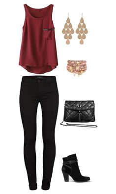 """Untitled #663"" by netteskytte on Polyvore featuring J Brand, AllSaints, Irene Neuwirth, Accessorize, women's clothing, women's fashion, women, female, woman and misses"