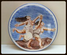 Flat wall decoration with painting by Picasso. Piatto di LabLiu, €40.00
