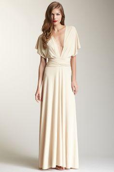 Almond Long Dress
