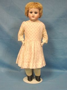 Germany Bisque Doll Kid Body Signed Welsh & Co.MOA Max Oscar Arnold 18