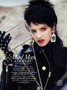 Asia Piwka Dons 'Mad Max Couture' for Glamour Poland by Michal KarFashion Gone Rogue