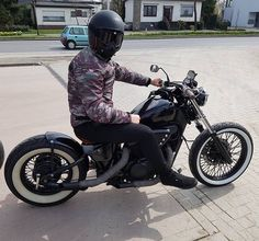 Me on my Honda VT600C Bobber
