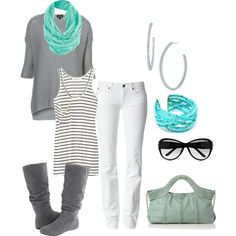 teal gray, created by kristafliss.polyvore.com