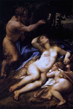 Antonio Allegri called Correggio (ca 1489-1534)-'Zeus and Antiope'-oil on canvas-ca 1528 Paris-Musée du Louvre