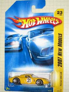 2007 New Models -#23 Ferrari 250 LM Yellow #2007-23 Collectible Collector Car Mattel Hot Wheels 1:64 Scale by Mattel. $5.00. FERRARI 250 LM Yellow 2007 New Models Hot Wheels 1:64 Scale Collectible Die Cast Car. 2007 New Models -#23 Ferrari 250 LM Yellow #2007-23 Collectible Collector Car Mattel Hot Wheels