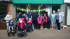 Opening of the Grand Depart window at the LEP Together Shop, Newsome Road South, Newsome, Huddersfield. Photo by Julie Stewart-Turner.