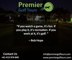 Premier Golf Tours focuses on planning and booking customised golf tours and golf travel to top destinations and marquee events. Golf Trips, Lpga Tour, Marquee Events, Kings Island, Golf Art, Turtle Bay, Golf Tour, Golf Exercises