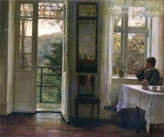 "Carl Holsoe ""At the Window"""