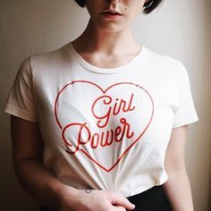 Girl Power Organic Cotton Tee – June and Jane. Women empowerment and girl power to the FULLEST extent. Wedding Day Shirts, Bridal Party Shirts, Bride Shirts, Bachelorette Party Shirts, Sweatshirt Outfit, Vintage Outfits, Mein Style, Mode Outfits, Looks Style