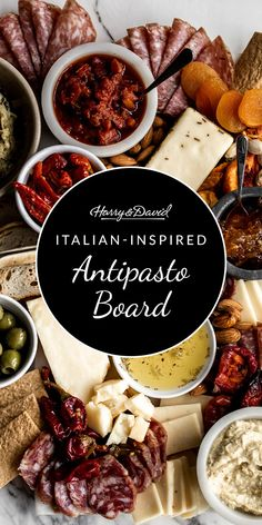 Make an Italian-inspired antipasto board for your next gathering with the help of Harry & David's fine Italian ingredients. Harry And David, Easy Entertaining, Antipasto, House Party, Wines, The Help, Boards, Make It Yourself, Fruit