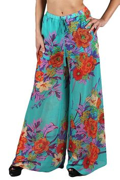 wide leg floral pants - Google Search