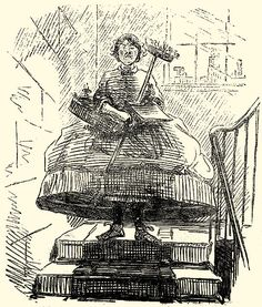 A humorous view of crinolines from the pages of Punch.