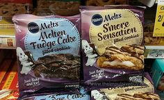 SPOTTED ON SHELVES: Pillsbury Melts Filled Cookies (S'more Sensation and Molten Fudge Cake)