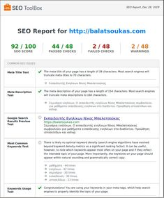 Έλεγχος βελτιστοποίησης σε εκπαίδευση seo με το siteseocheckup.com Seo Report, Search Engine, Fails, Engineering, Make Mistakes, Technology
