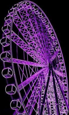 Purple Ferris Wheel - I'd like to see/ride this! Violet Aesthetic, Dark Purple Aesthetic, Lavender Aesthetic, Aesthetic Colors, Aesthetic Pictures, Purple Aesthetic Background, Artist Aesthetic, Aesthetic Vintage, Aesthetic Anime