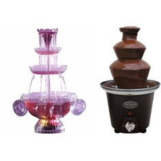 Nostalgia Electrics Chocolate Fountain & Lighted Beverage Fountain Party Set...I wonder if they're big enough???