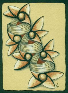 1 Art Lady Kate, Tangles and More: Weekly Challenge #146: DuoTangle