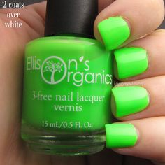 MATTE Neon Green Nail Polish ($12) ❤ liked on Polyvore featuring beauty products, nail care and nail polish