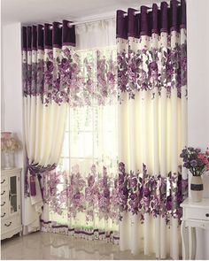 Window of the house of modern decoration romantic bedroom living room curtain curtains mauve room of wedding curtain with … - New Deko Sites Elegant Curtains, Modern Curtains, Home Curtains, Curtains With Blinds, 2 Room House Plan, Home Decor Bedroom, Living Room Decor, Romantic Room, Curtain Designs