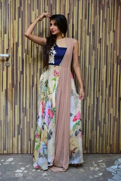 #draped#gownfloral#palanquinebysandhya shah