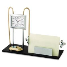 Metal Table Top with Clock N Card Holder