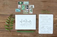 Oh So Beautiful Paper: Southern Magnolia Bridal Luncheon Invitation