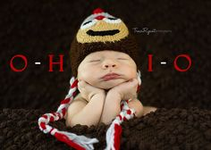 FREE SHIPPING Ohio State Buckeyes newborn/ baby hat by MarysKnits, $26.00