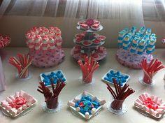Mesa dulce para bodas en tonos pastel