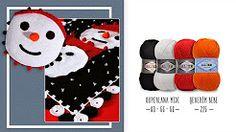 Kardan adam motifli,kitlemeli battaniye - A Locked Blanket, Pattern with snowman - YouTube