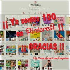 La familia de Kangurines sigue creciendo, esta vez es el turno de nuestro rincón en Pinterest. Contentos de que más de 100 disfrutéis con nuestros tableros (http://www.pinterest.com/kangurines).   ¡¡Muchas gracias a todos por hacerlo posible y FELIZ VIERNES!!