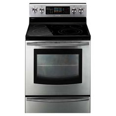 Samsung Freestanding Electric Range with 5 Radiant Elements, cu. Flex Dual Convection Oven, SteamQuick Self-Clean, and Warming Drawer Double Oven Electric Range, Dual Oven, Small Kitchen Appliances, Home Appliances, Oven Range, Lowes Home Improvements, Cooking Utensils, Cookers, Stainless Steel
