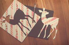 DIY: washi tape silhouette art