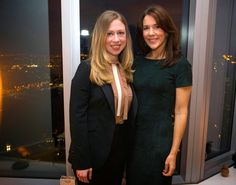 THE SOCIETY  Chelsea Clinton and H.R.H. Crown Princess Mary of Denmark