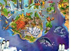 World Map Illustration detail: Australia by Maria Rabinky Birds Eye View Map, Cityscape Art, Map Design, Custom Map, Map Art, Illustration Art, Poster, Australia, Detail