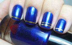 unhas fios de ouro, esmalte azulex quem disse, berenice - tudo make 02