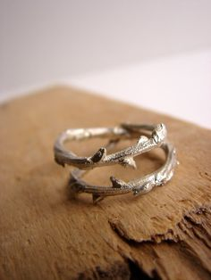 Twig Ring Branch Ring Double Adjustable Sterling Silver by Nafsika