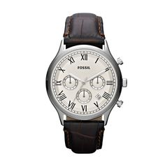 Fossil Ansel Leather Watch - Brown