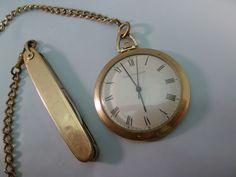 Girard Perregaux Pocket Watch 10K Yellow Gold GF Case 17J Vintage Antique 1960s #GirardPerregaux