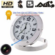 Table Clock 720P Camera DVR Video Recorder Hidden Cam Camcorder. 1 x Clock DVR. -This multifunctional device can used as a clock and a camera. Interface Type: Mini USB. -Help you record everything happened around when you are not at home. | eBay!
