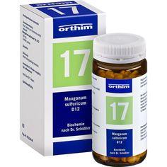 BIOCHEMIE Orthim 17 Manganum sulfuricum D 12 Tabletten:   Packungsinhalt: 400 St Tabletten PZN: 04532550 Hersteller: Orthim KG Preis:…