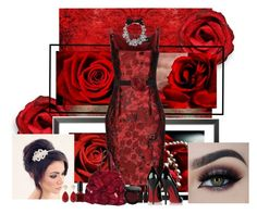 """Lady in Red Contest"" by nellegrau ❤ liked on Polyvore featuring Dsquared2, Lanvin, Christian Louboutin, Bobbi Brown Cosmetics, Laura Mercier, Amrita Singh and J.Crew"