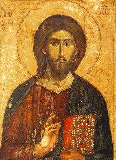 Mount Athos icon of Christ, 13th century