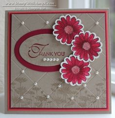 """Best of Flowers stamp set, 1-1/4"""" scallop circle punch, Lacy & Lovely stamp set, Ovals framelits dies"""