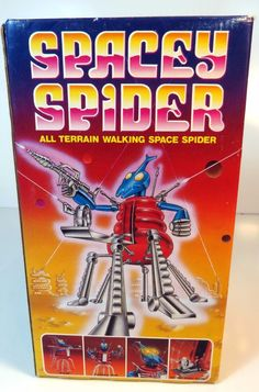 Vintage 1985 Spacey Spider Monster Space Robot Toy Battery Operated NEW #TalbotToys