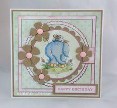 Card I made using Rachelle Anne Miller CD Rom 2014