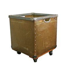 Vintage Industrial Laundry Cart Industrial Storage By Auroramills