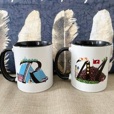Custom design for a great ideea of a personalized mug for you and your love ones. Custom Design. Graphic Design. Personalized Mug. R Mug. Initial R Mug. M Mug. Initial M Mug. Initial M, Personalized Mugs, Mug Designs, Custom Mugs, Custom Design, Graphic Design, Tableware, Handmade Gifts, Etsy