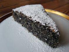 Mohnkuchen ohne Mehl, glutenfreier Kuchen, ohne Weizen, fructosefrei: Körniges zum Kaffee